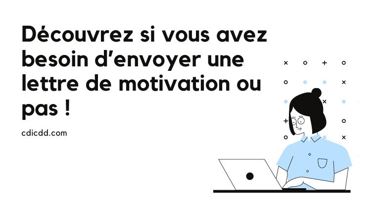 Envoyer lettre de motivation