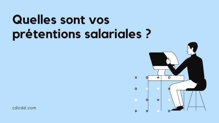 Négociation prétentions salariales