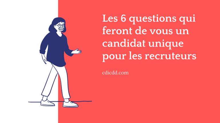 Candidat unique pour les recruteurs